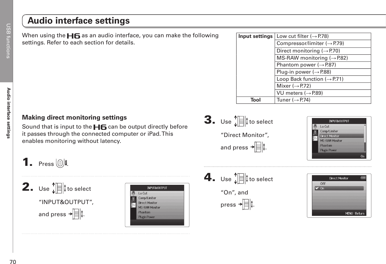 Zoom H6 Users Manual