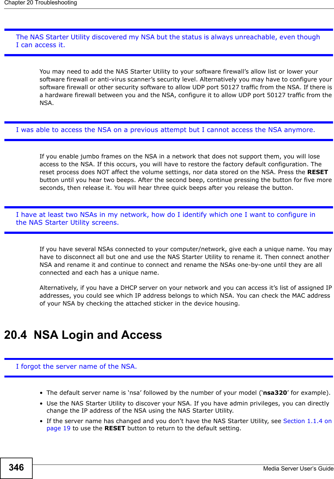 Zyxel Nsa320 Owners Manual