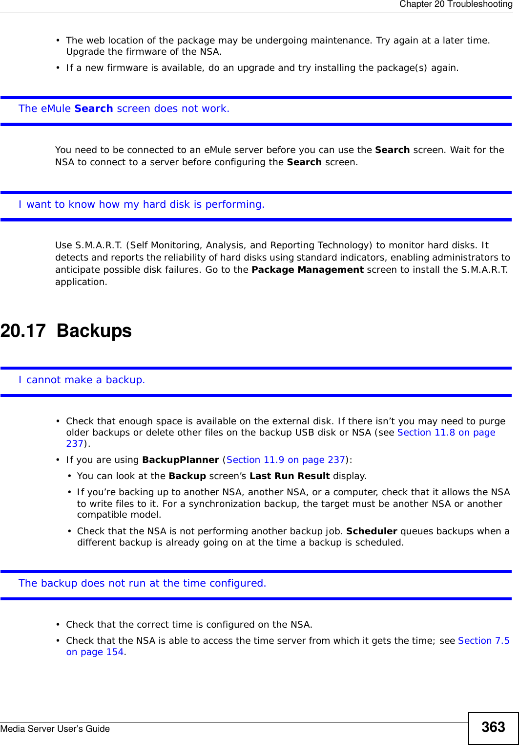 Zyxel Nsa325 Users Manual Book