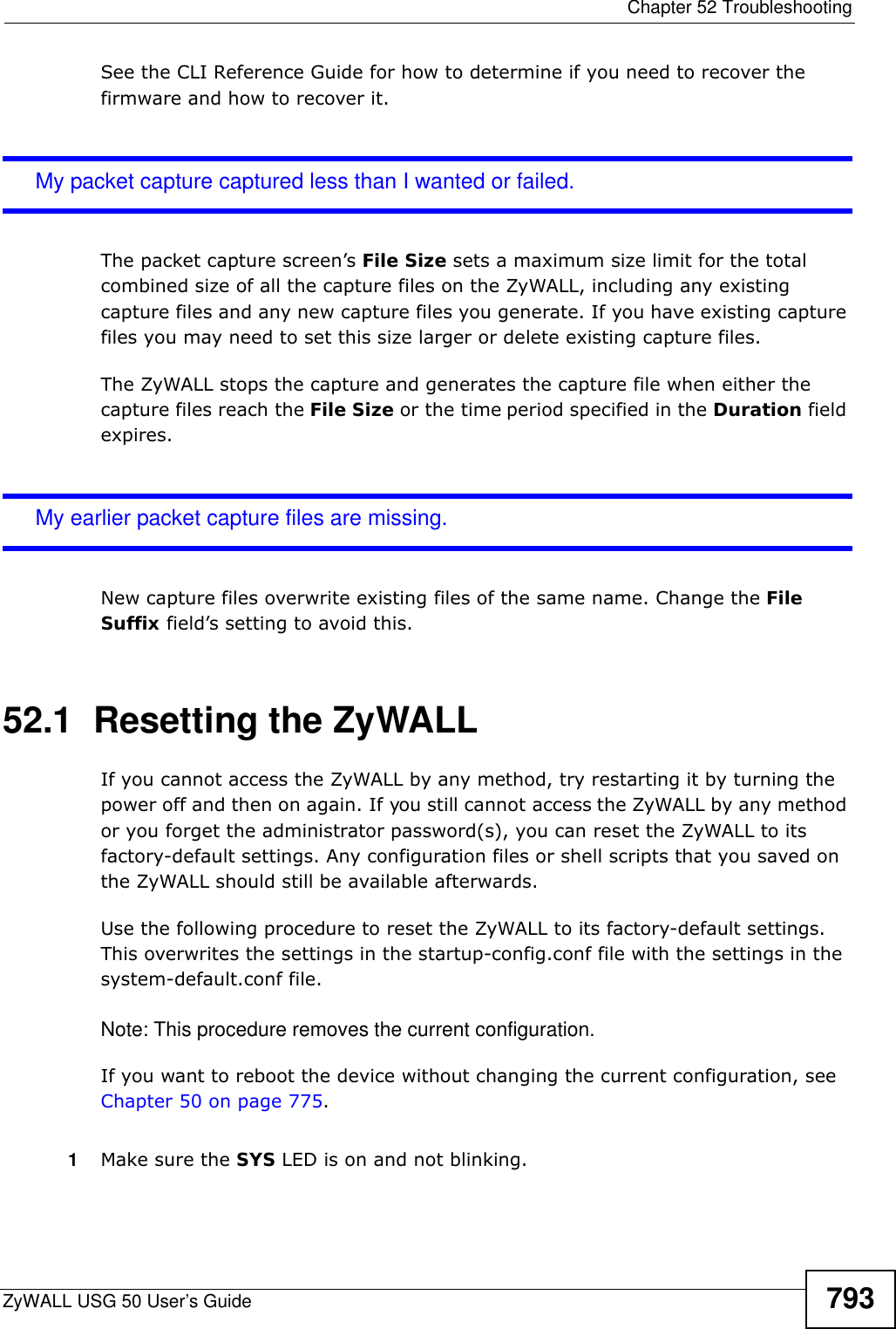 Zyxel Zywall Usg 50 Users Manual User's Guide