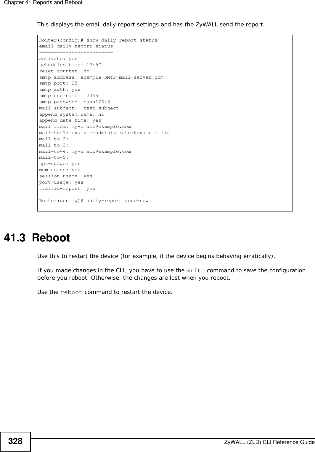 Reboot Usg Cli