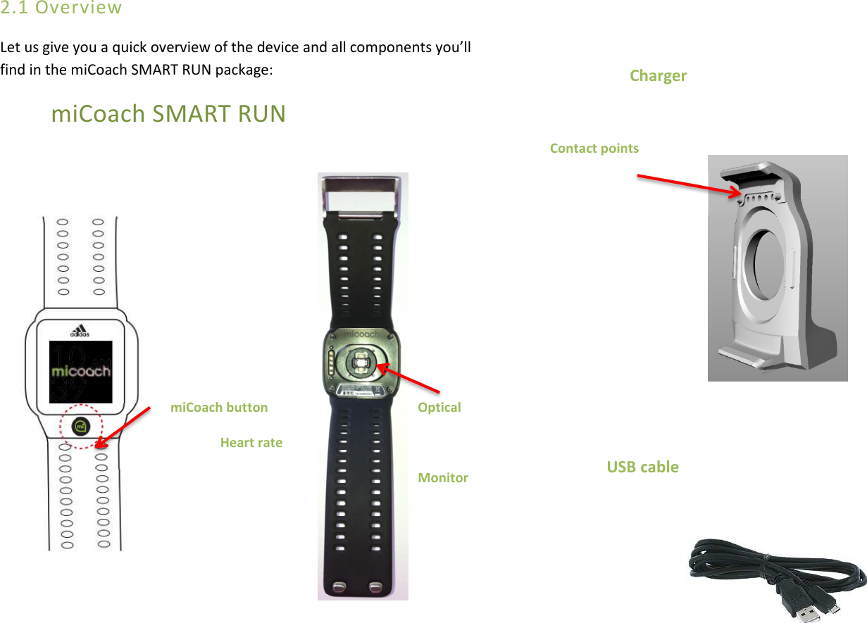adidas SMARTRUN Fitness monitor with Bluetooth 4.0 dual mode