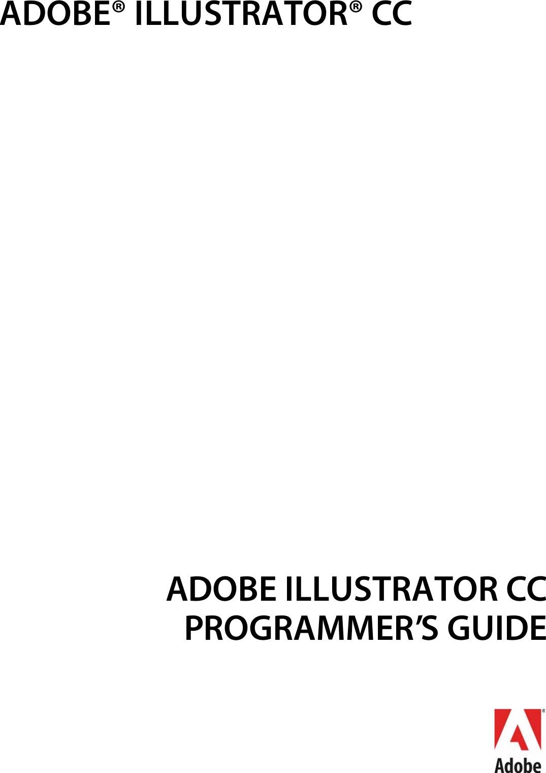 Adobe Illustrator CC Programmer's Guide Pg en