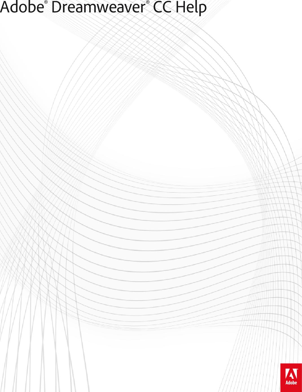 Adobe Dreamweaver CC (2015) Help 2015 En