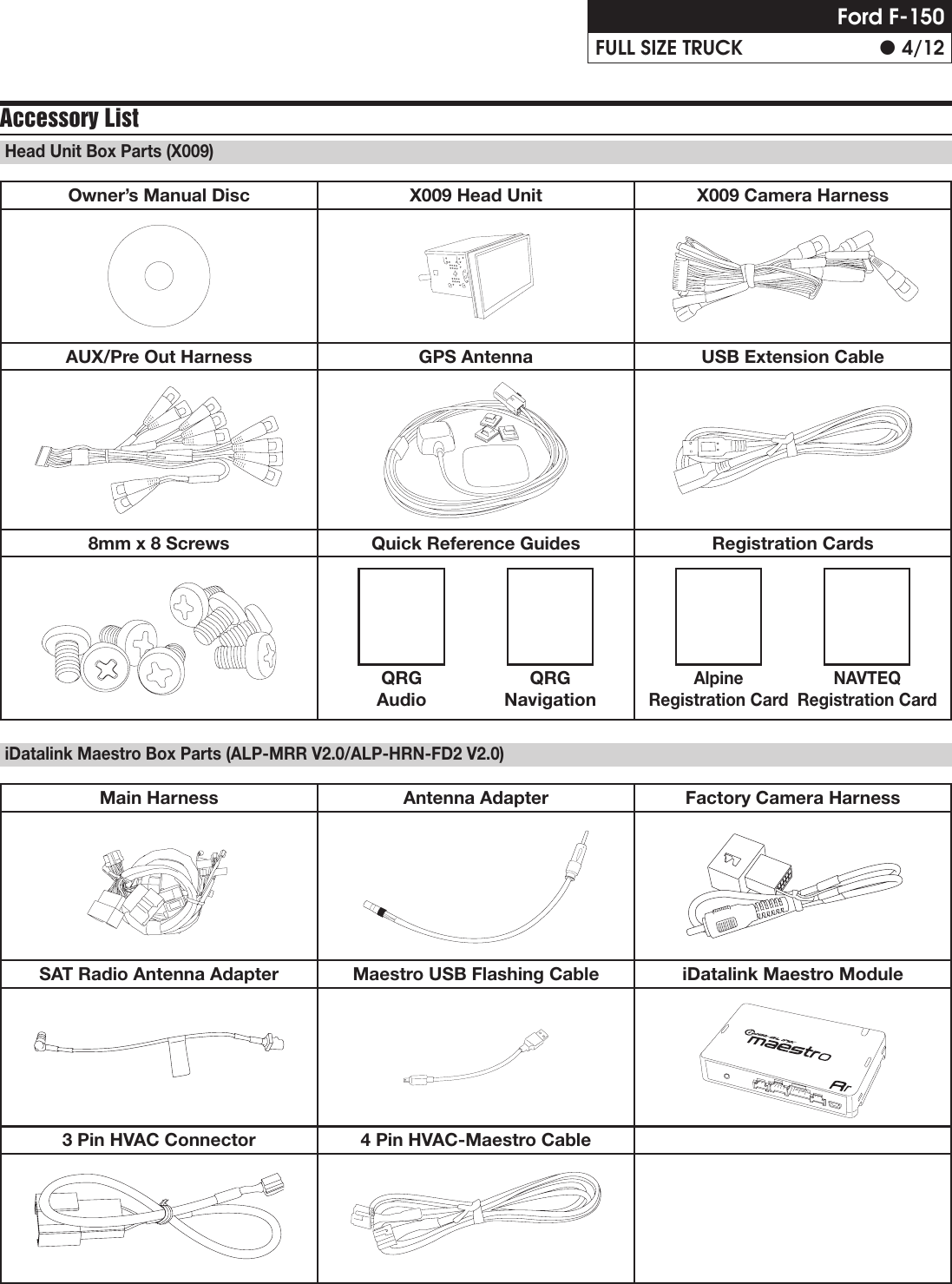 Alpine X009 Fd2 Installation Guide Im Wire Harness 4 Pin Page Of 12