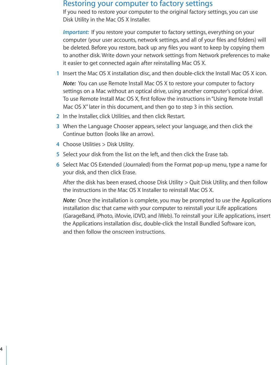 Apple Mac OS X 10 6 Snow Leopard Installation And Setup