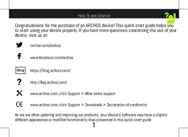 Archos 55b Platinum Getting Started Arc Ml