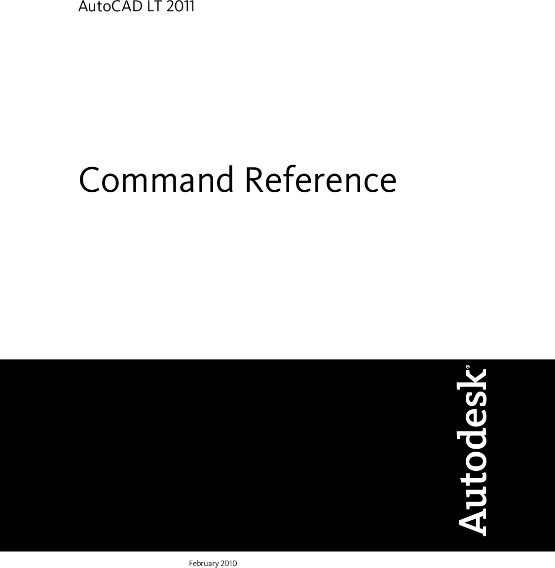 Autodesk Auto CAD LT 2011 Command Reference