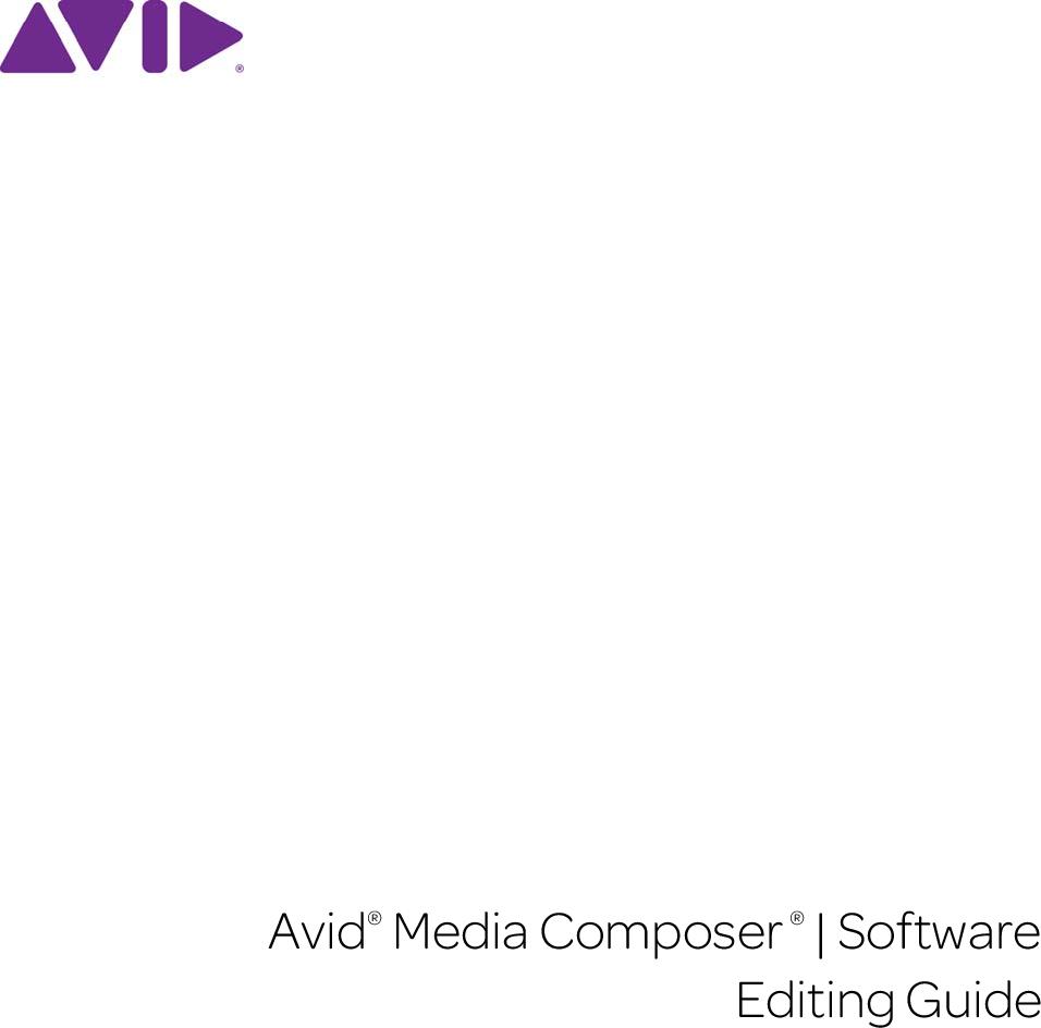 Avid Media Composer User's Guide V8 3 8 3 Editing MC EG