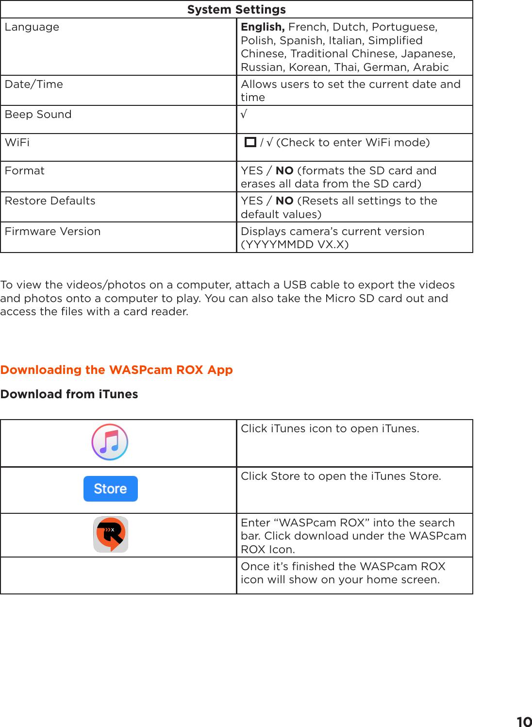 Cobra WASPcam ROX 9941 4k Operating Instructions EN