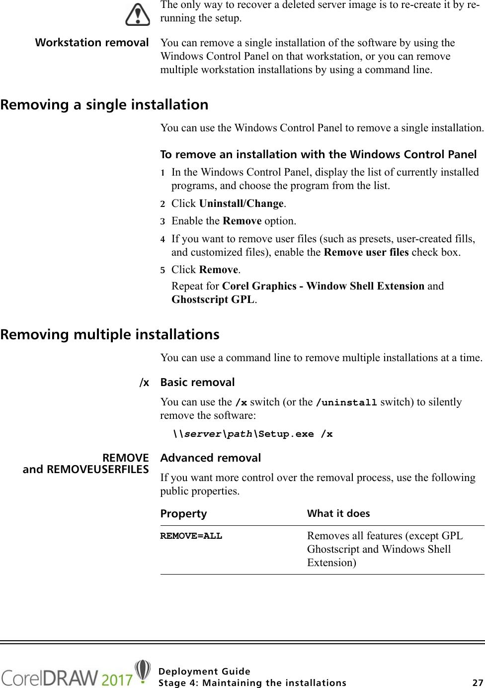 Corel CorelDRAW Graphics Suite 2017 Deployment Guide Draw