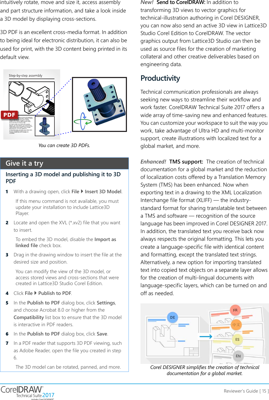 Corel CorelDRAW Technical Suite 2017 Reviewer's Guide (EMEA) Draw