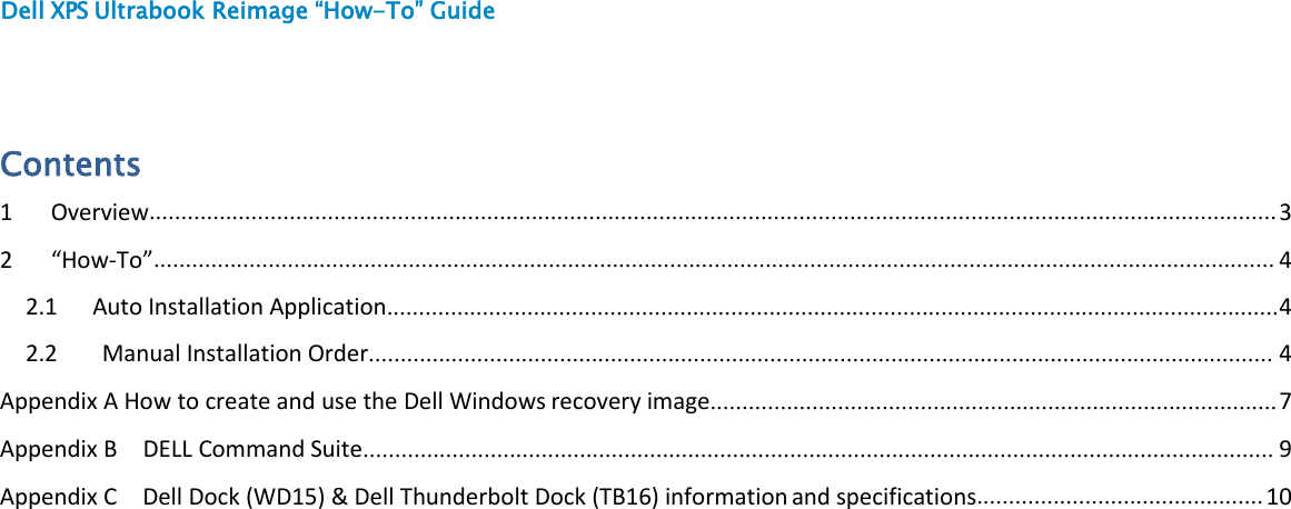Dell XPS 13 9365 2 in 1 Re image Guide Operating