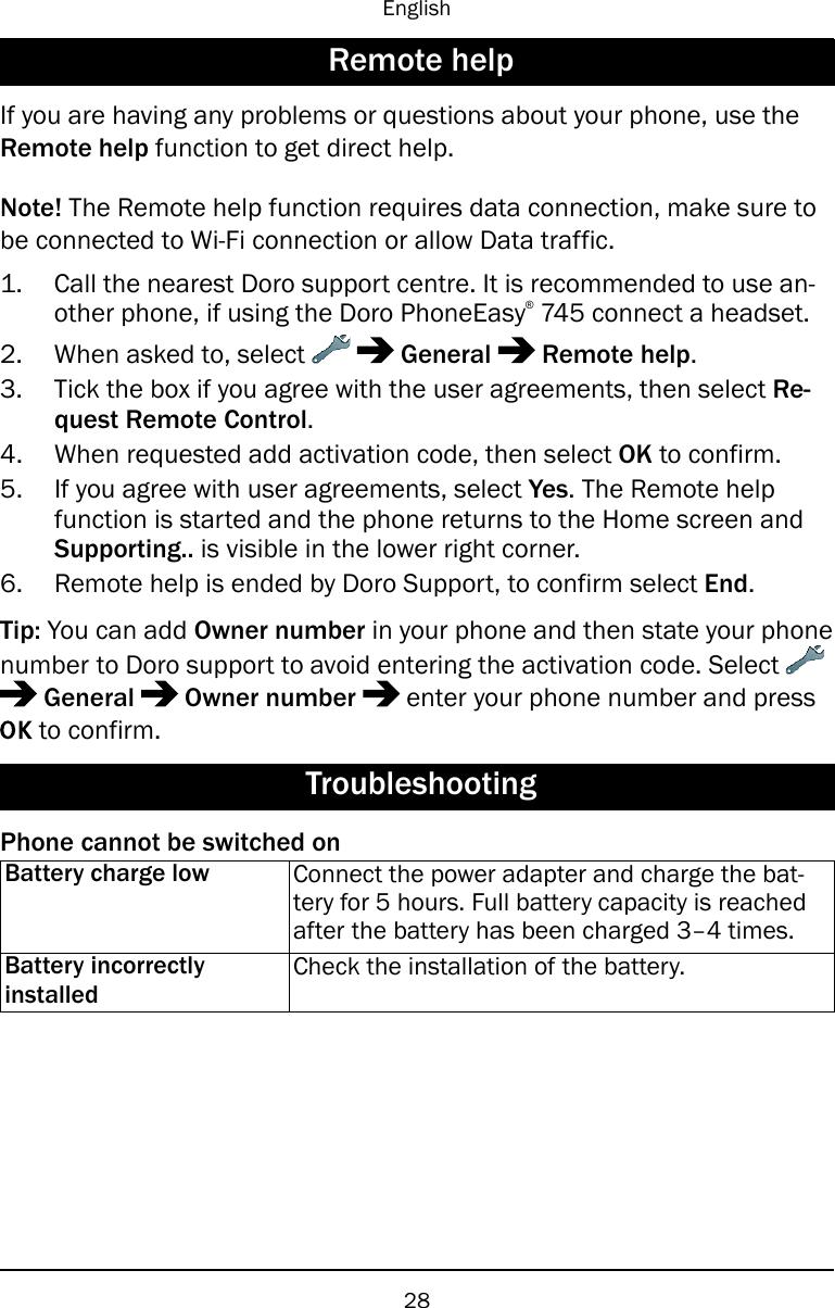 Doro Phone Easy 745 User Guide En