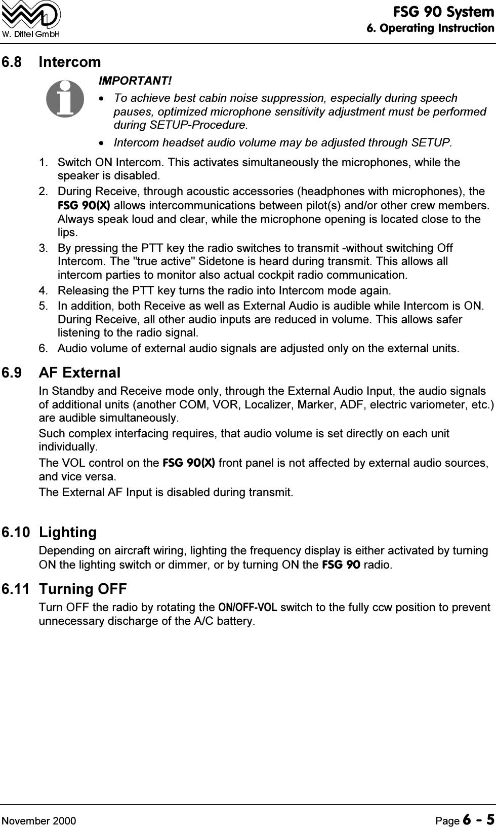 F U N K E Avionics Fsg90 Vhf Am Aviation Analogue Voice Comm Intercom Wiring Diagram Of Unit 10 66vwhp2shudwlqj