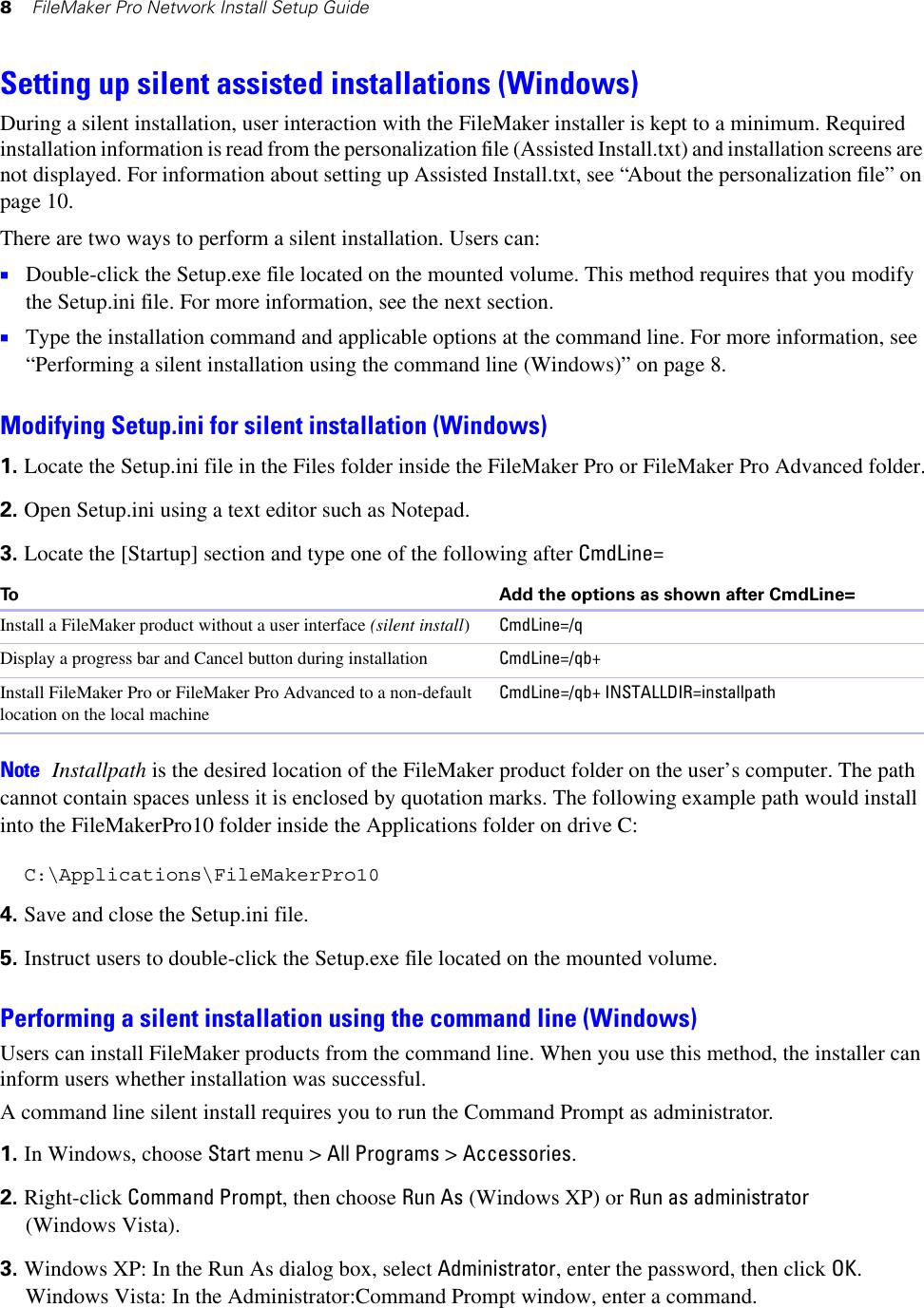 Filemaker Pro Network Install Setup Guide File Maker 10 Fmp10 En