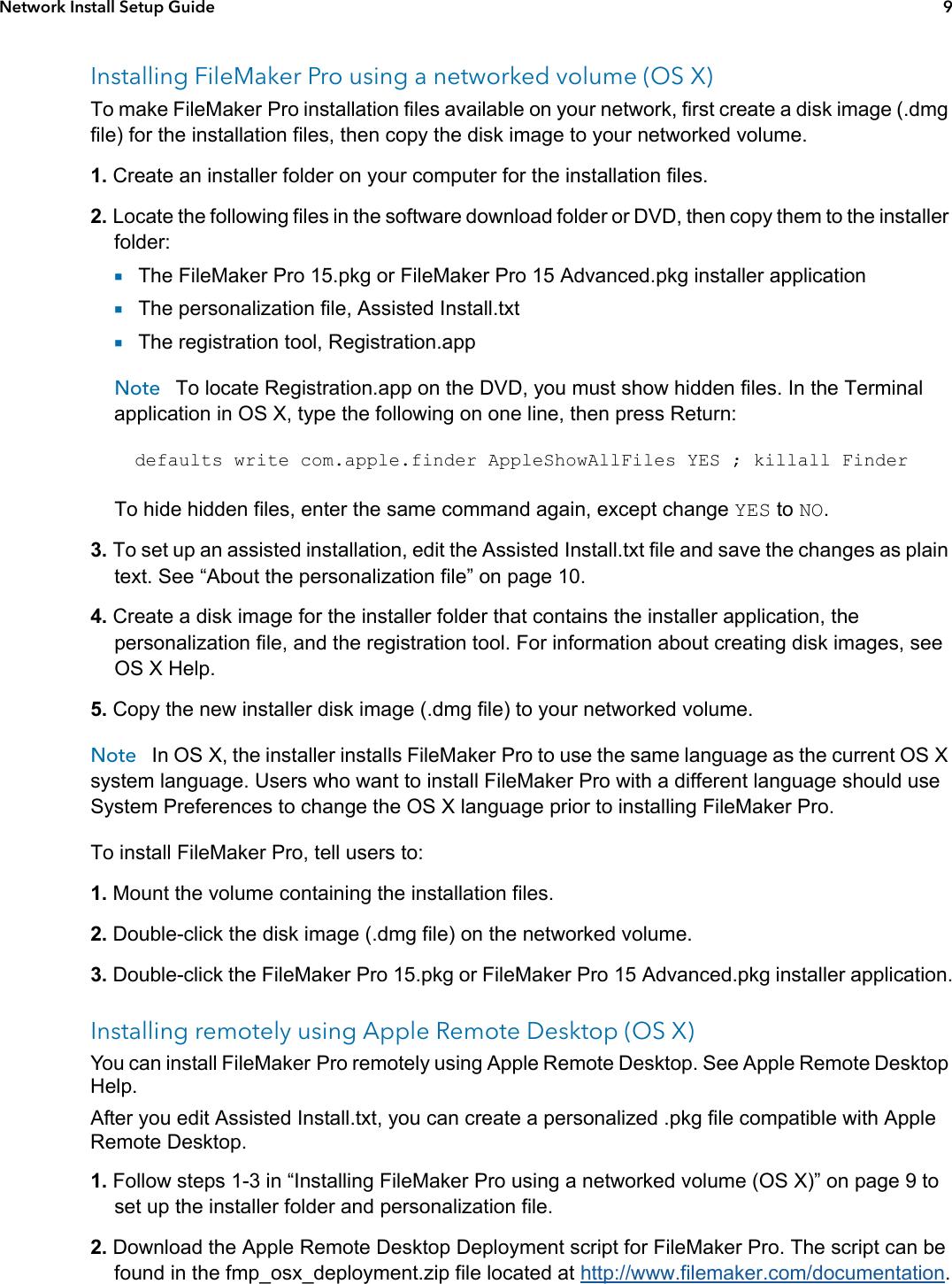 Filemaker Pro 15 Network Install Setup Guide File Maker Fmp15