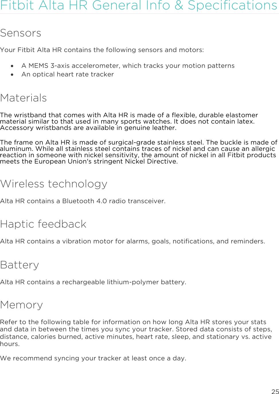 Fitbit Alta HR Product Manual En US