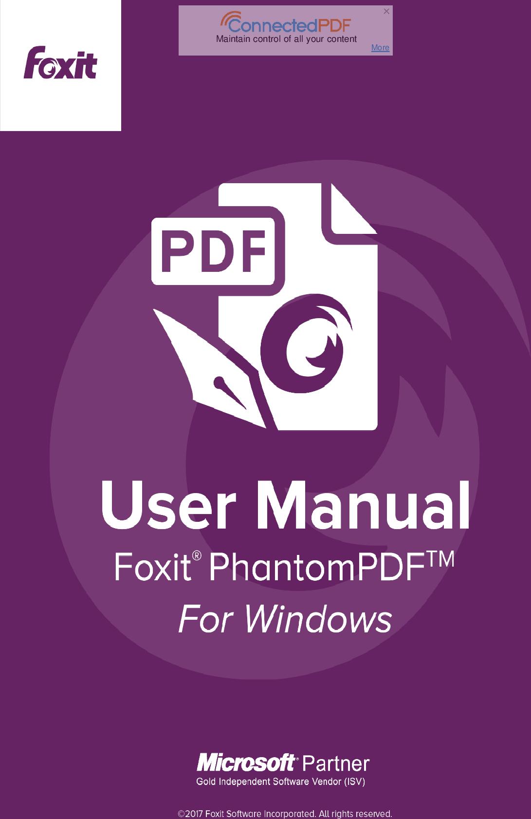 Foxit Phantom PDF 8.3 For Windows Operation Manual PDF83 EN