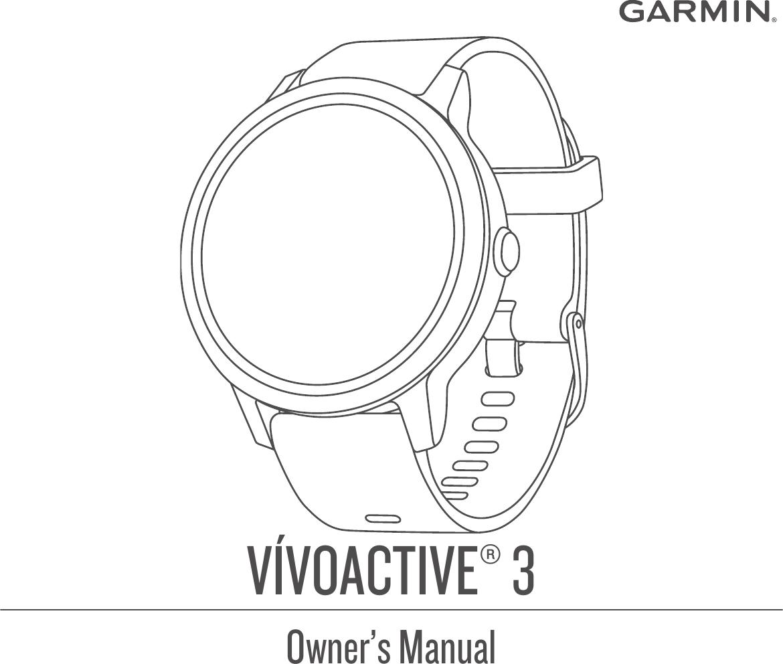 Garmin Vivoactive 3 Operating Instructions OM EN