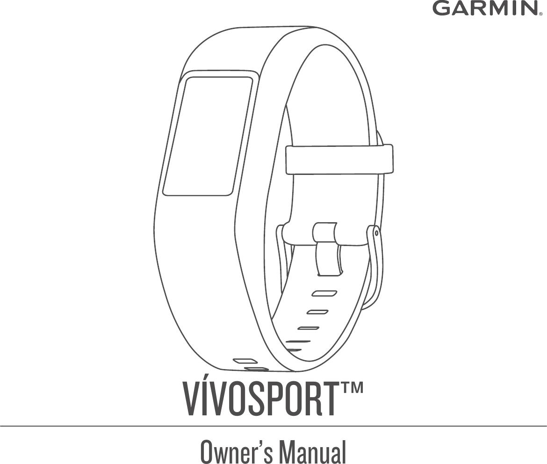 Garmin Vivosport Operating Instructions OM EN