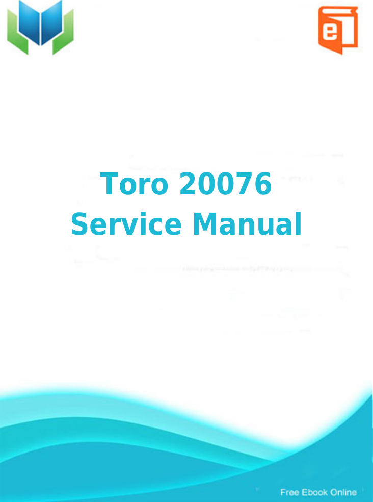 Hp toro 20076 service manual productmanualguide preview fandeluxe Choice Image