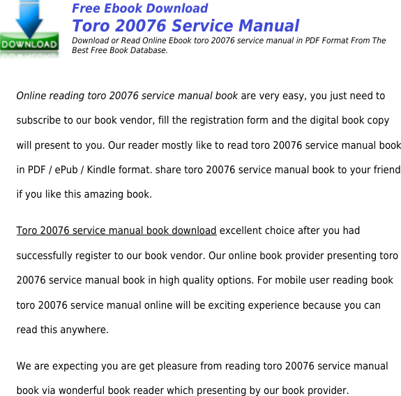 Hp toro 20076 service manual productmanualguide preview page 2 of 6 hp toro 20076 service manual productmanualguide preview fandeluxe Choice Image