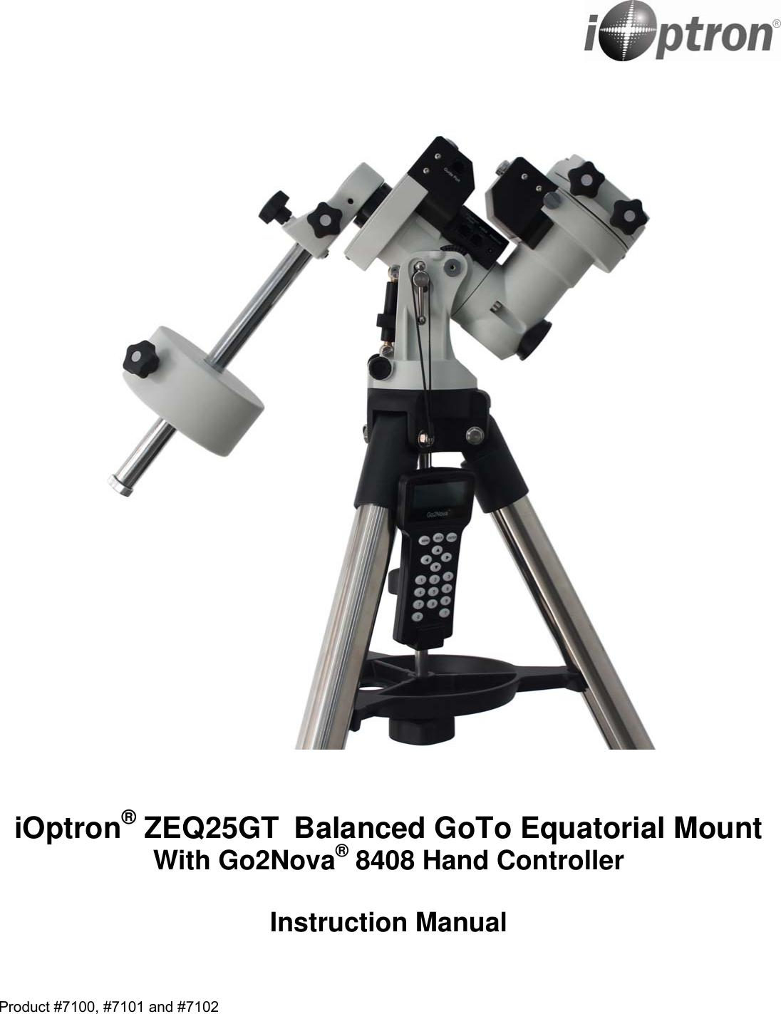 IOptron ZEQ25GT ZEQ25 Manual V12 User To The E1b4bb06 c0ec