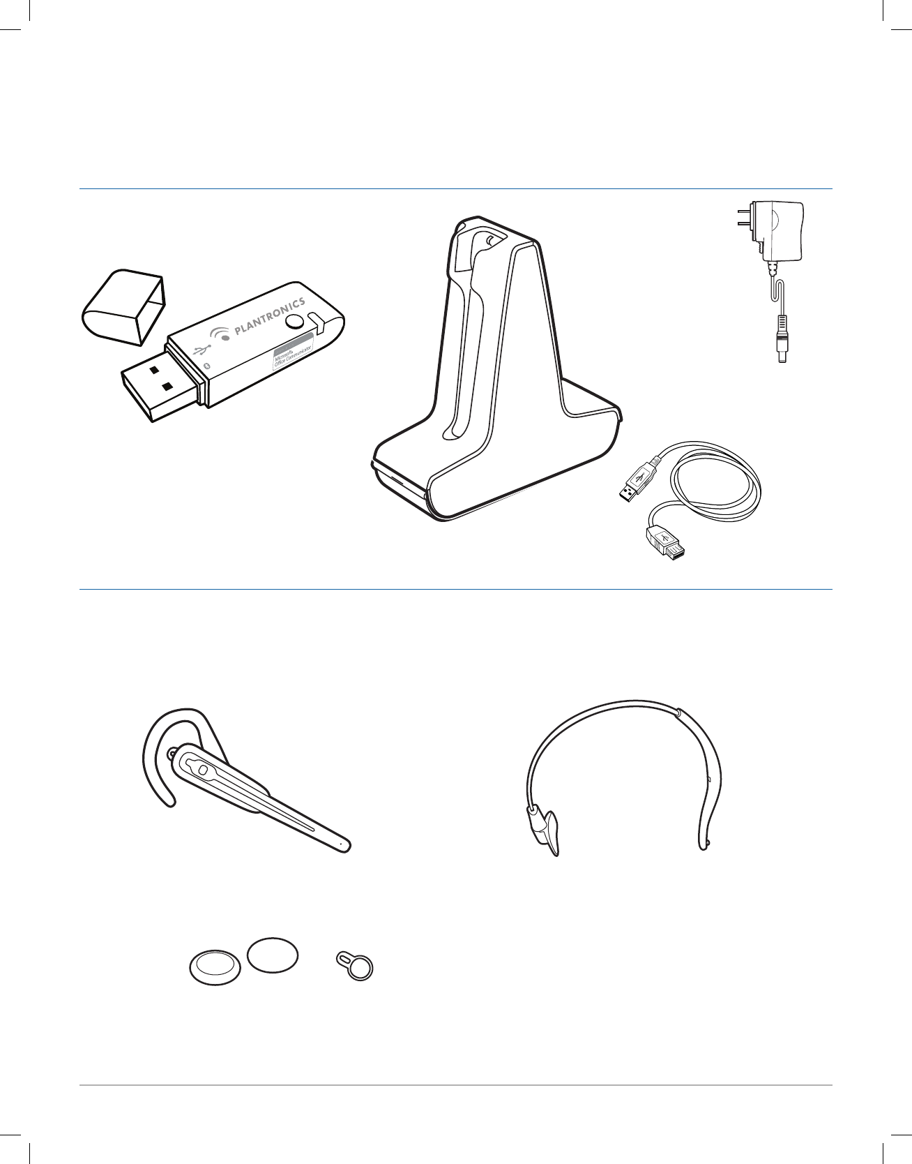 Plantronics WH100B Bluetooth Headset User Manual