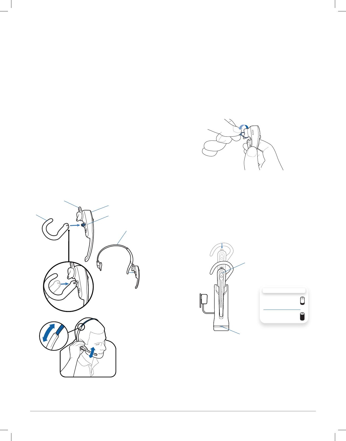 Plantronics WH100B Bluetooth Headset User Manual