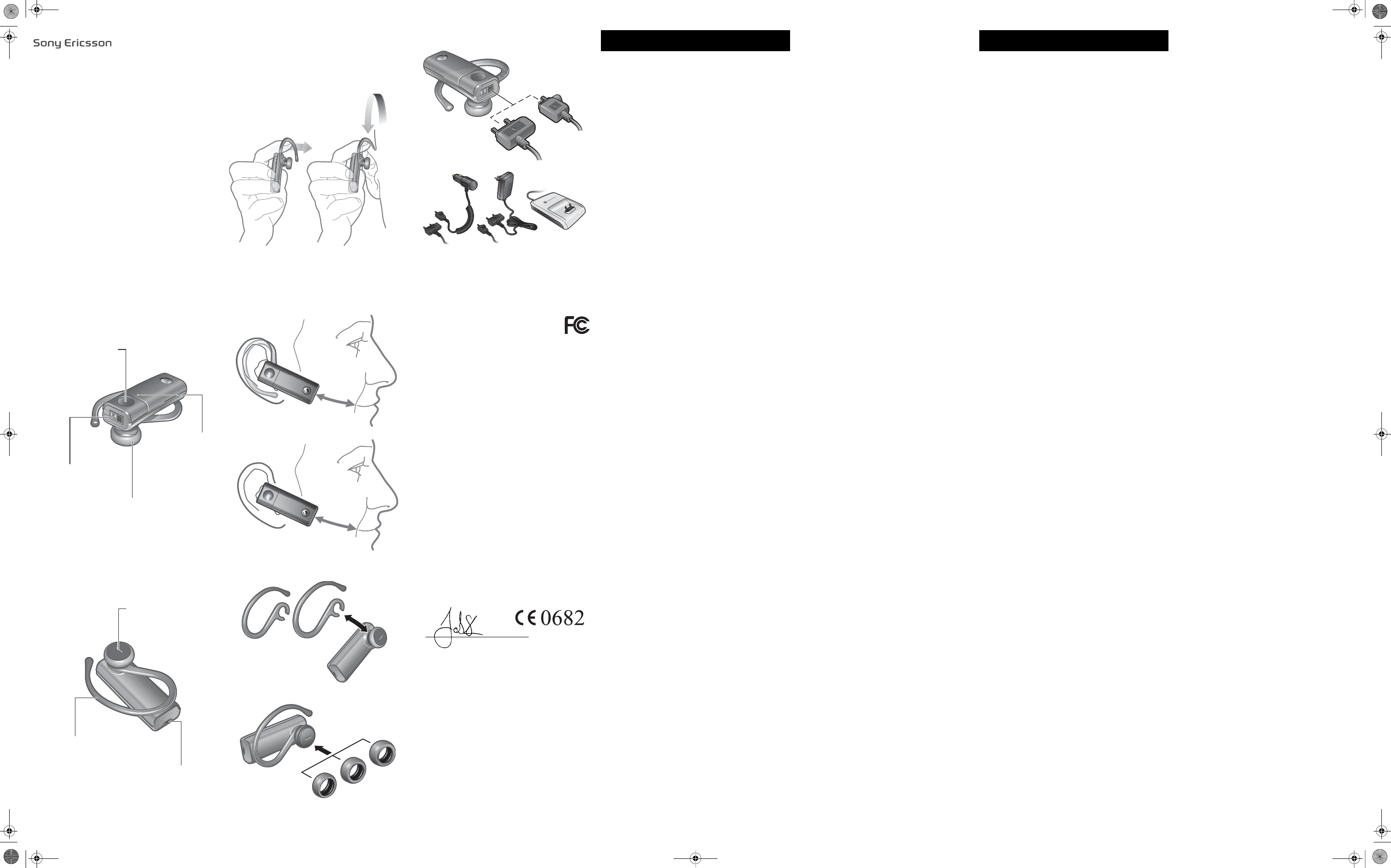 Sony Mobile Communications DDA-2024 Bluetooth Headset User