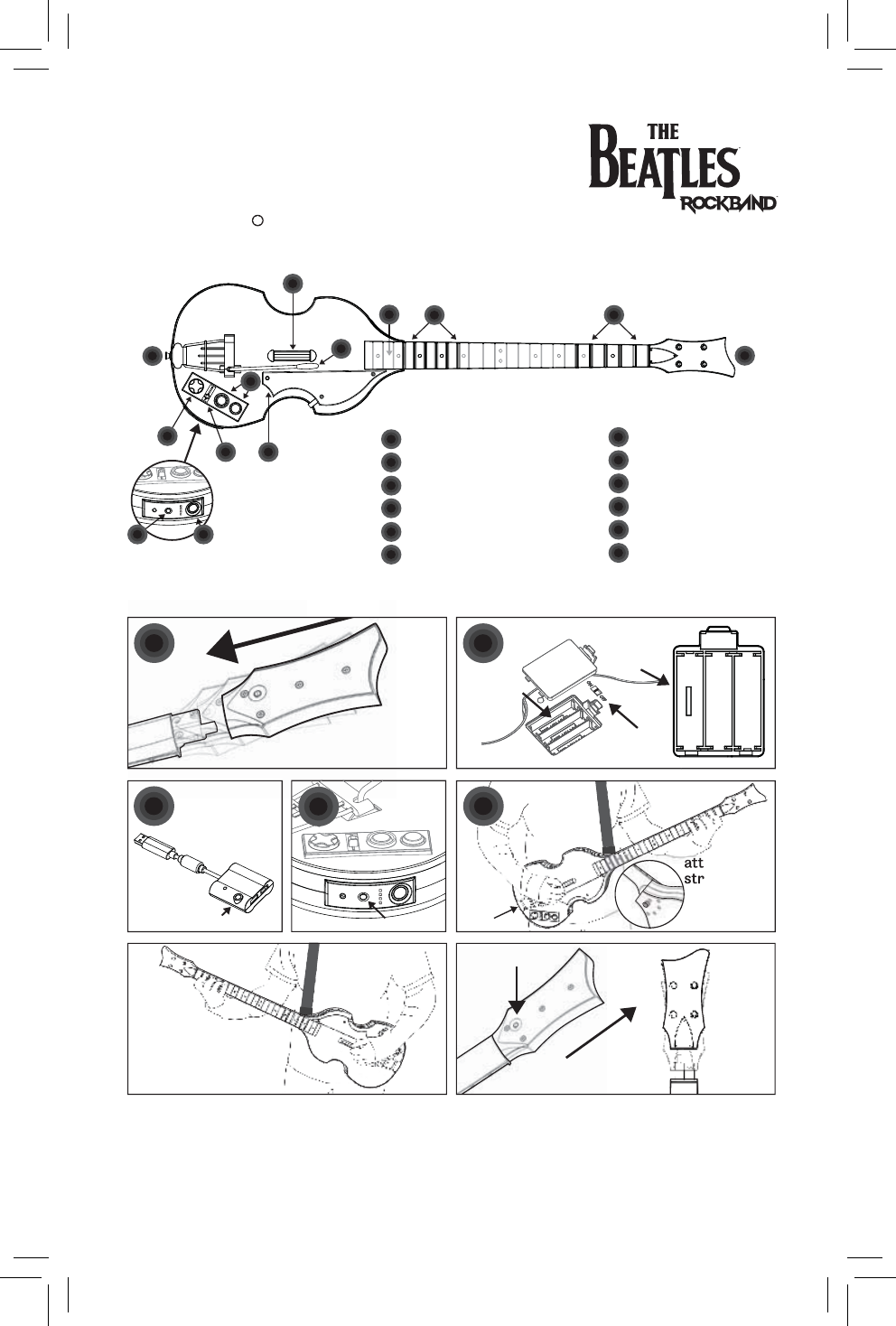 Harmonix Music Systems Psgts3 P9 Ps Hofner Wireless Guitar User Humbucker Wiring Diagram Using Your