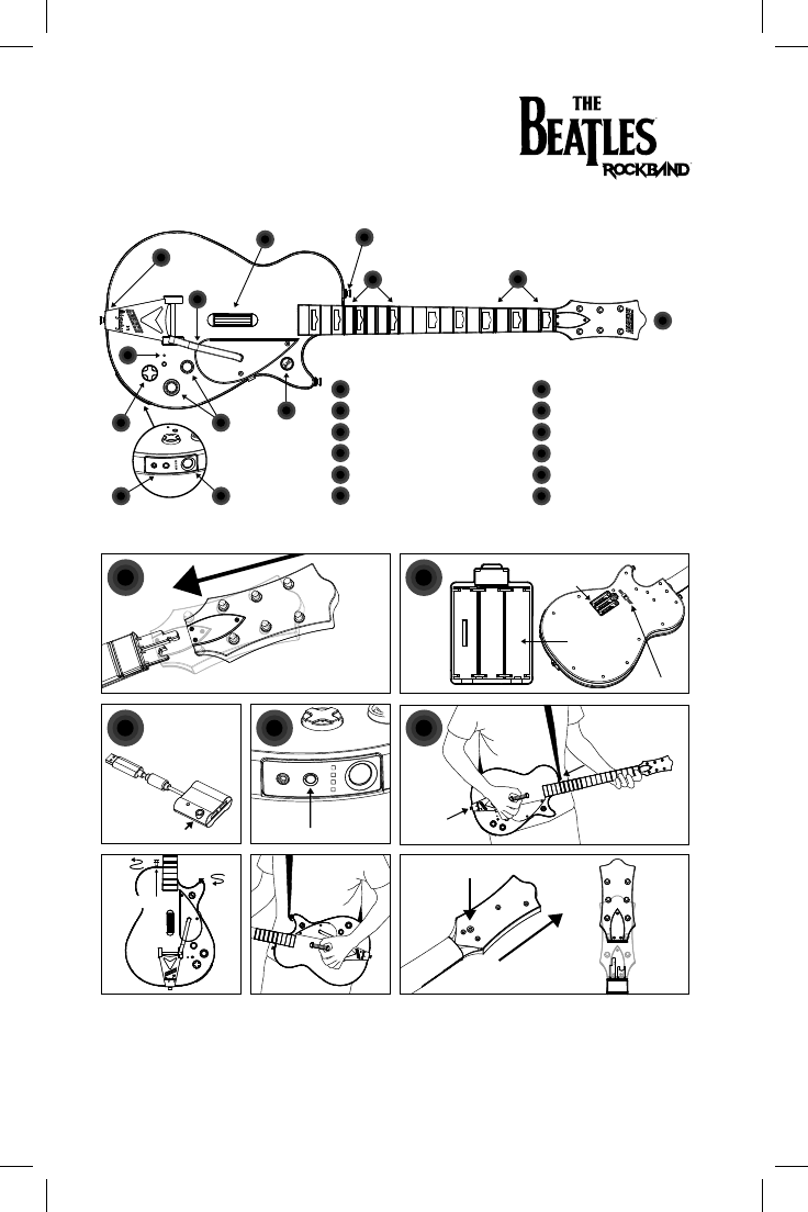 Harmonix Music Systems NWGTS4 P9 Wii Gretsch Wireless