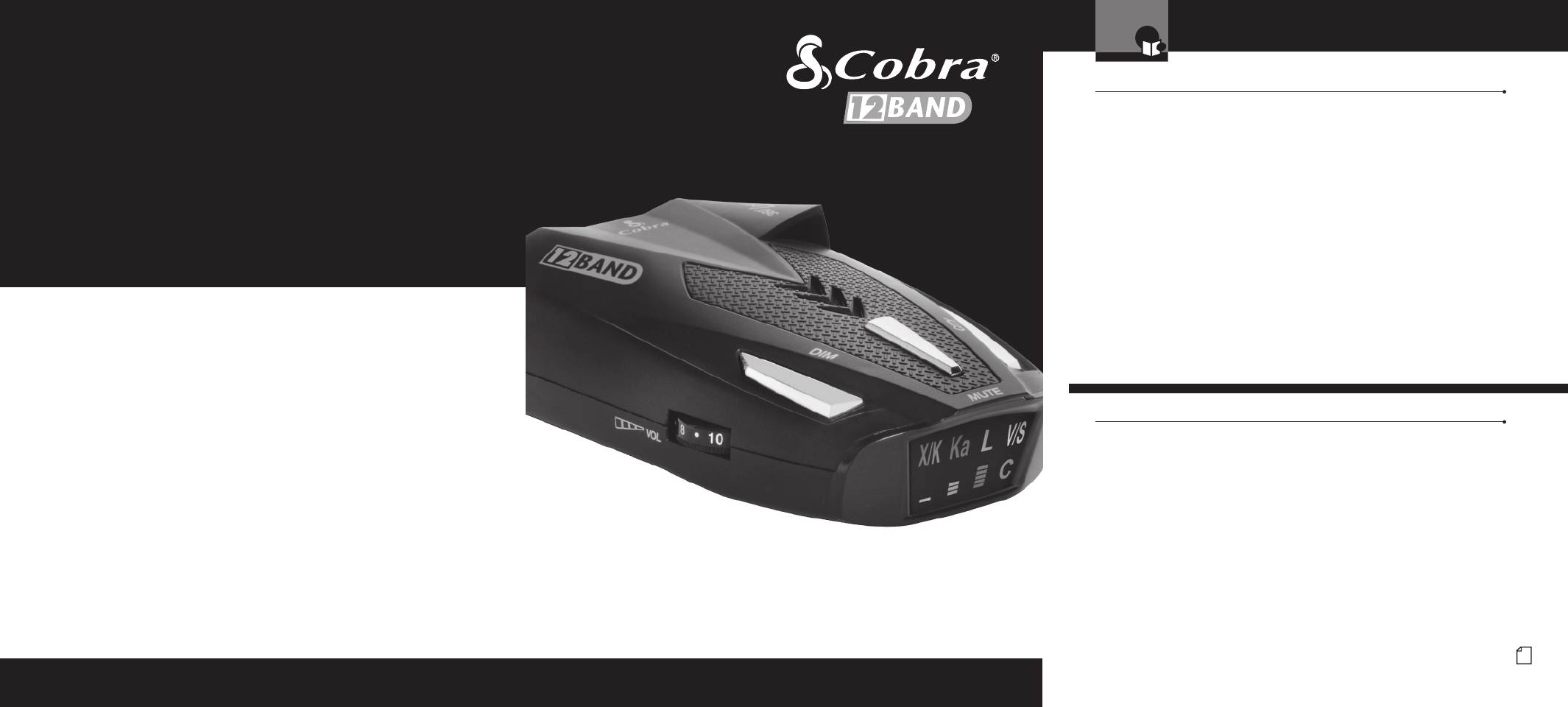 Cobra Electronics ESD9290 RADAR DETECTOR User Manual ESD9290