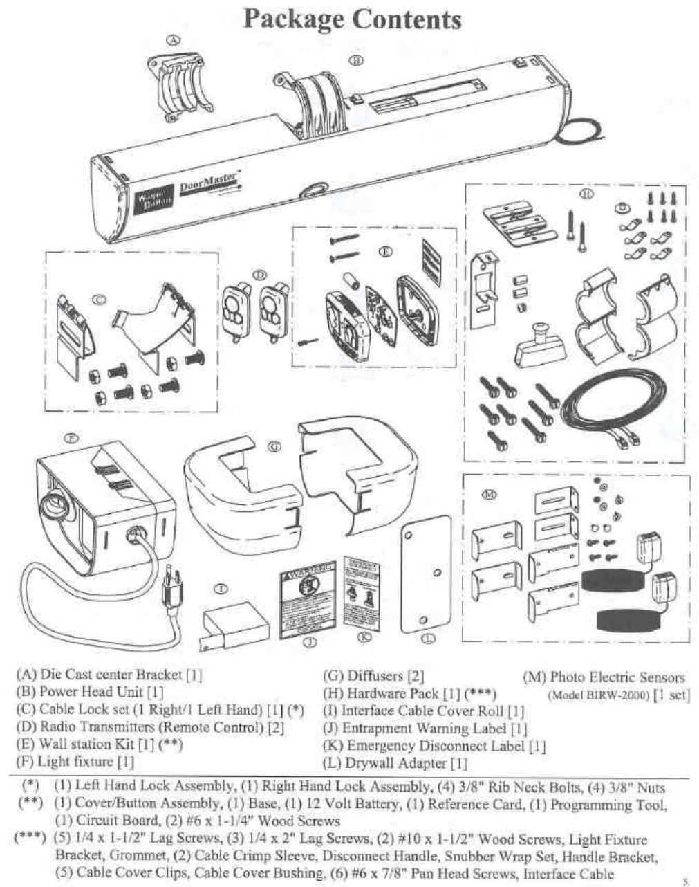 Wayne Dalton Hht 433asw Garage Door Opener User Manual 01 0100 Wiring Diagram Fcc Id Kj8hht