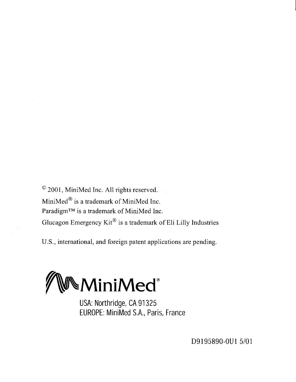 Medtronic MiniMed 511 Paradigm Infusion Pump, Model MMT-511