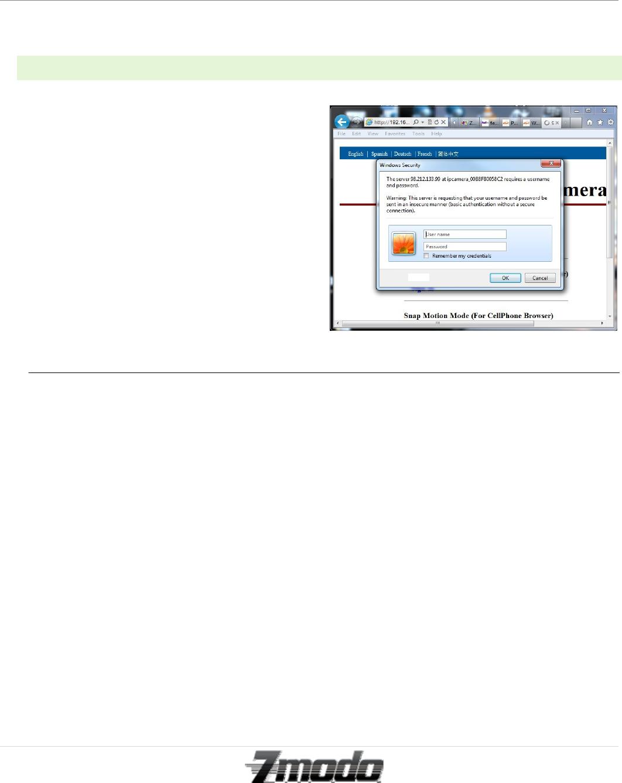 ZMODO Technology I11133WT IP-CAM User Manual I11133WT Draft