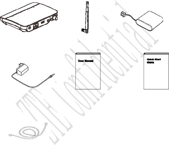 ZTE WF720 WCDMA/GSM Fixed Wireless Terminal WF720 User