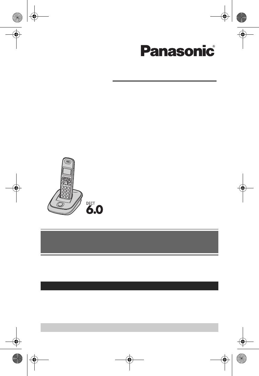 Manual telefono panasonic kx tga402 en espaol.