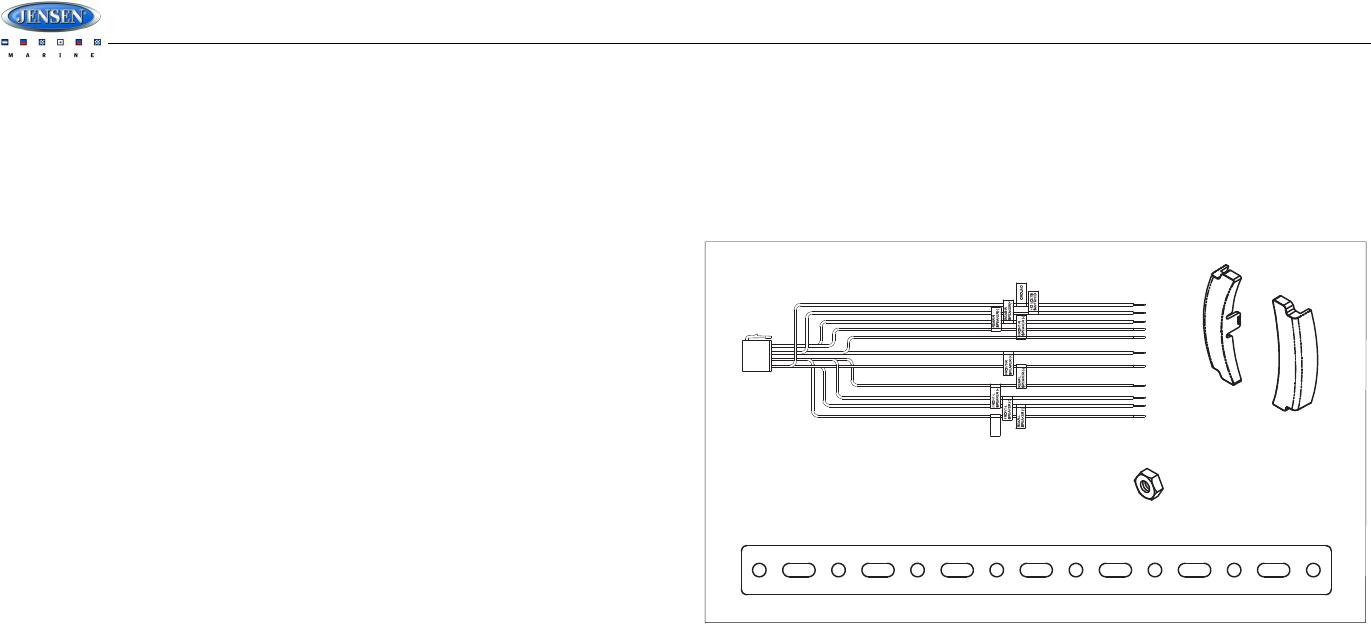 Sounding Audio MS2013BT Jensen Marine AM/FM/USB/Bluetooth