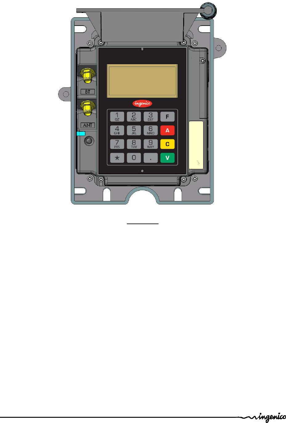INGENICO IUC18X-RF Payment Terminal User Manual Manual