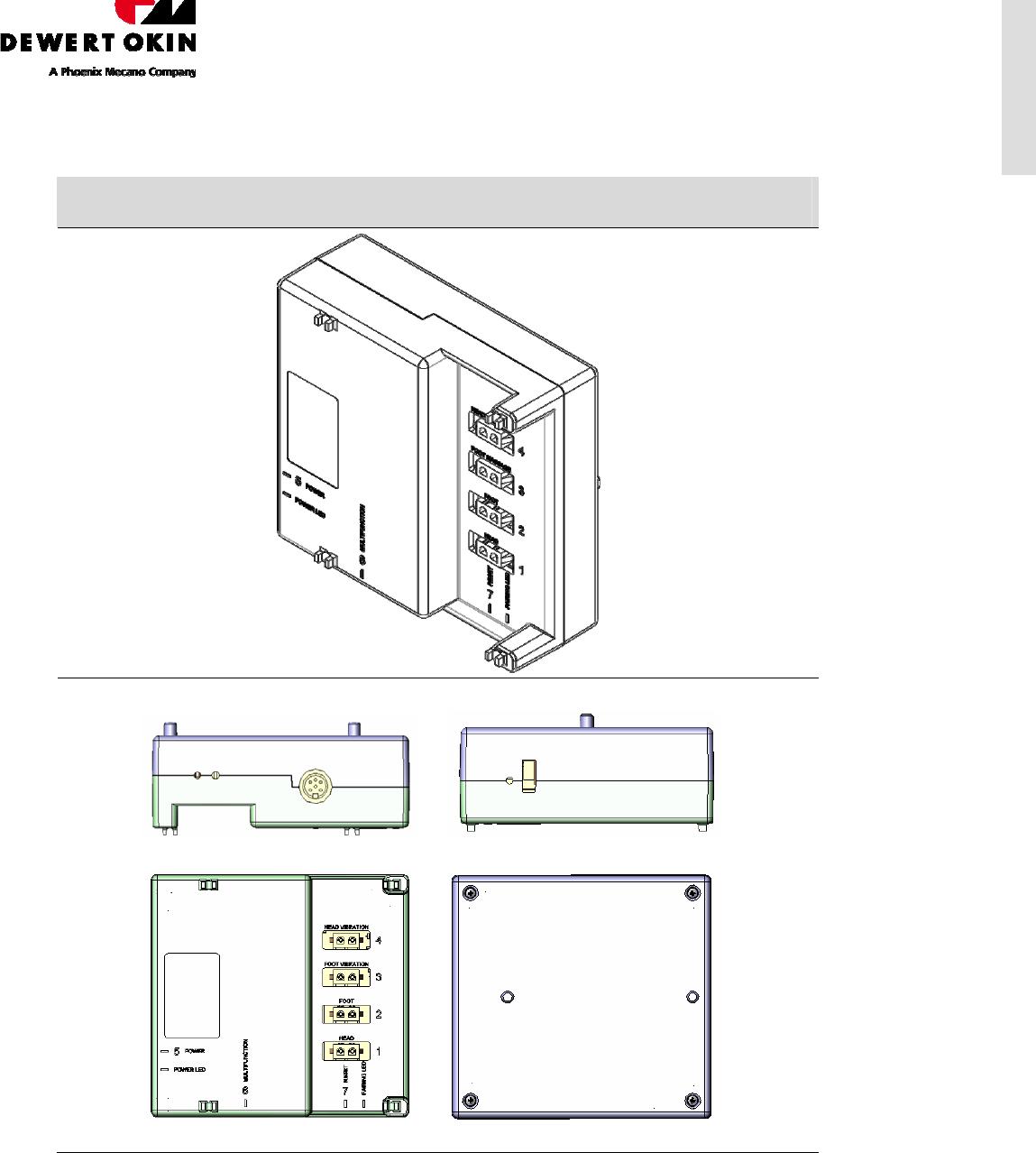 DewertOkin CU258-2 Control Unit 258-2 User Manual 300