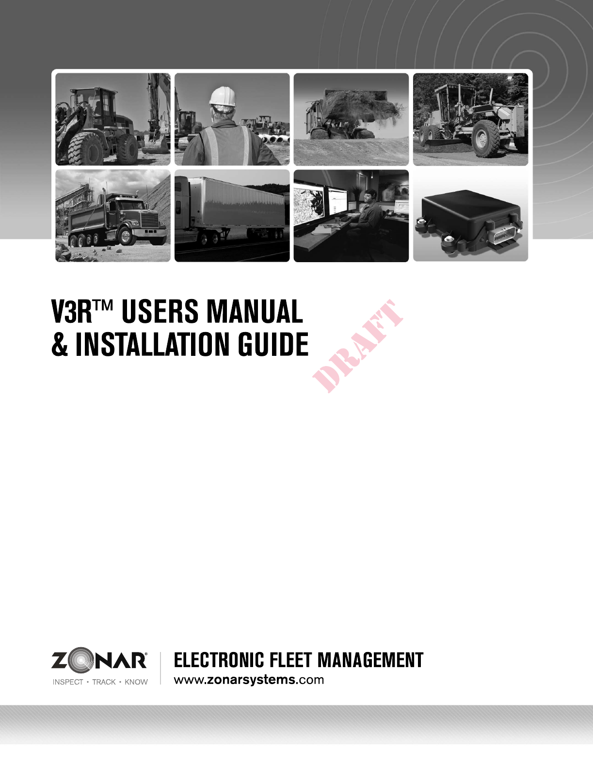 Zonar Systems V3R V3R User Manual on wire sleeve, wire lamp, wire nut, wire clothing, wire ball, wire cap, wire holder, wire leads, wire antenna, wire connector,