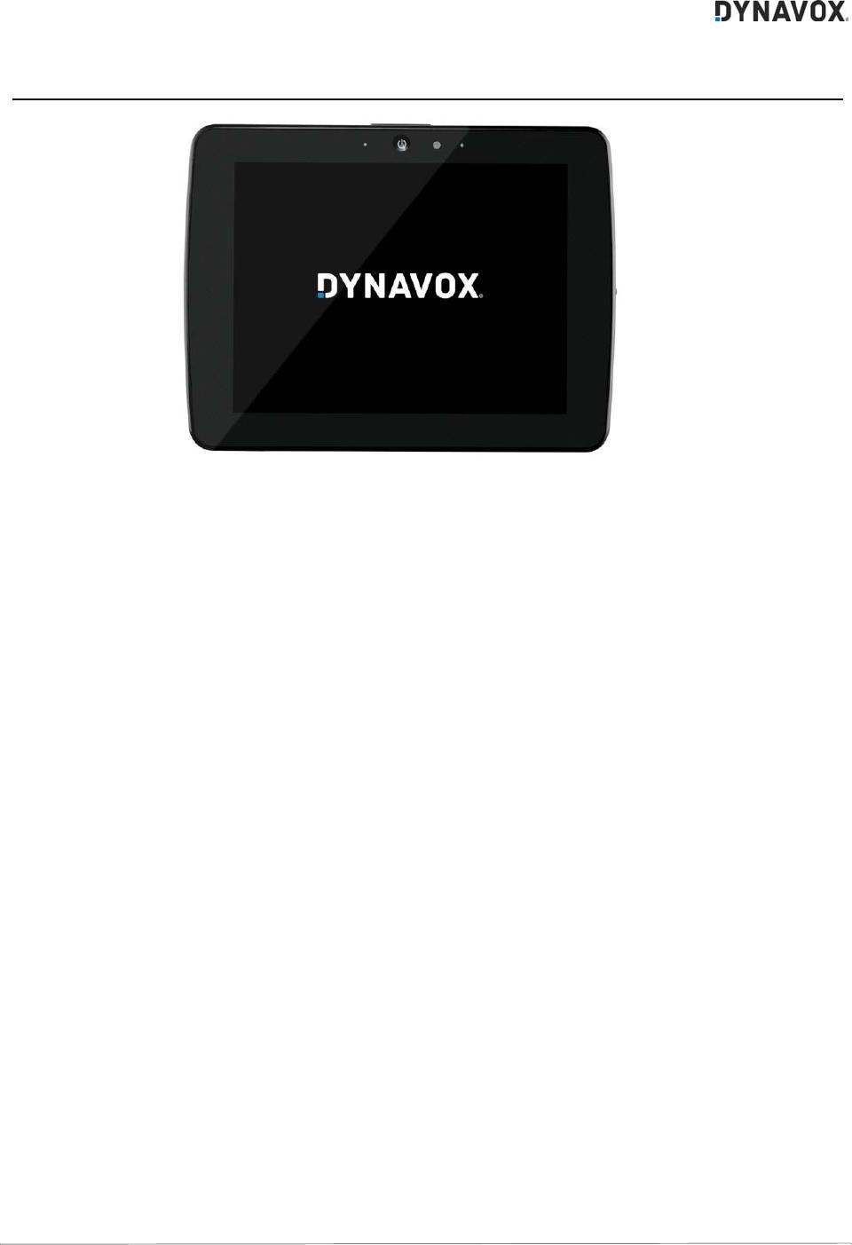 Tobii Dynavox T15 DynaVox T15 User Manual S6 DynaVoxT10 T15 Book