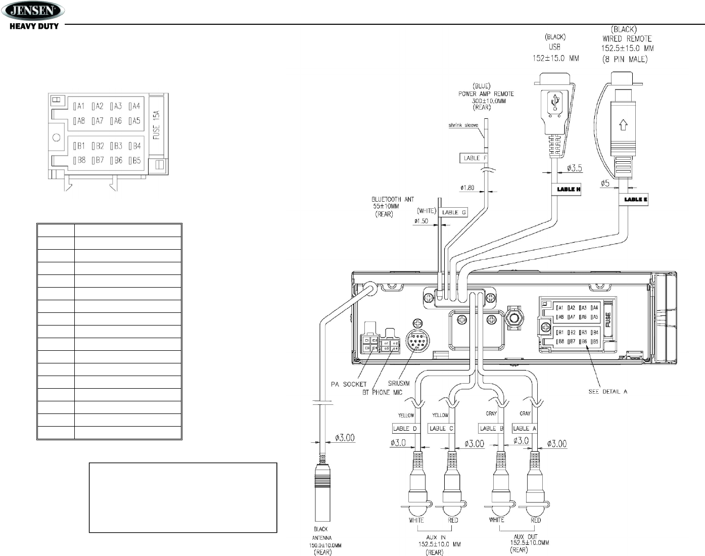 Sounding Audio JHD1635BT AM/FM/RBDS/WB/USB/AUX-IN/BT
