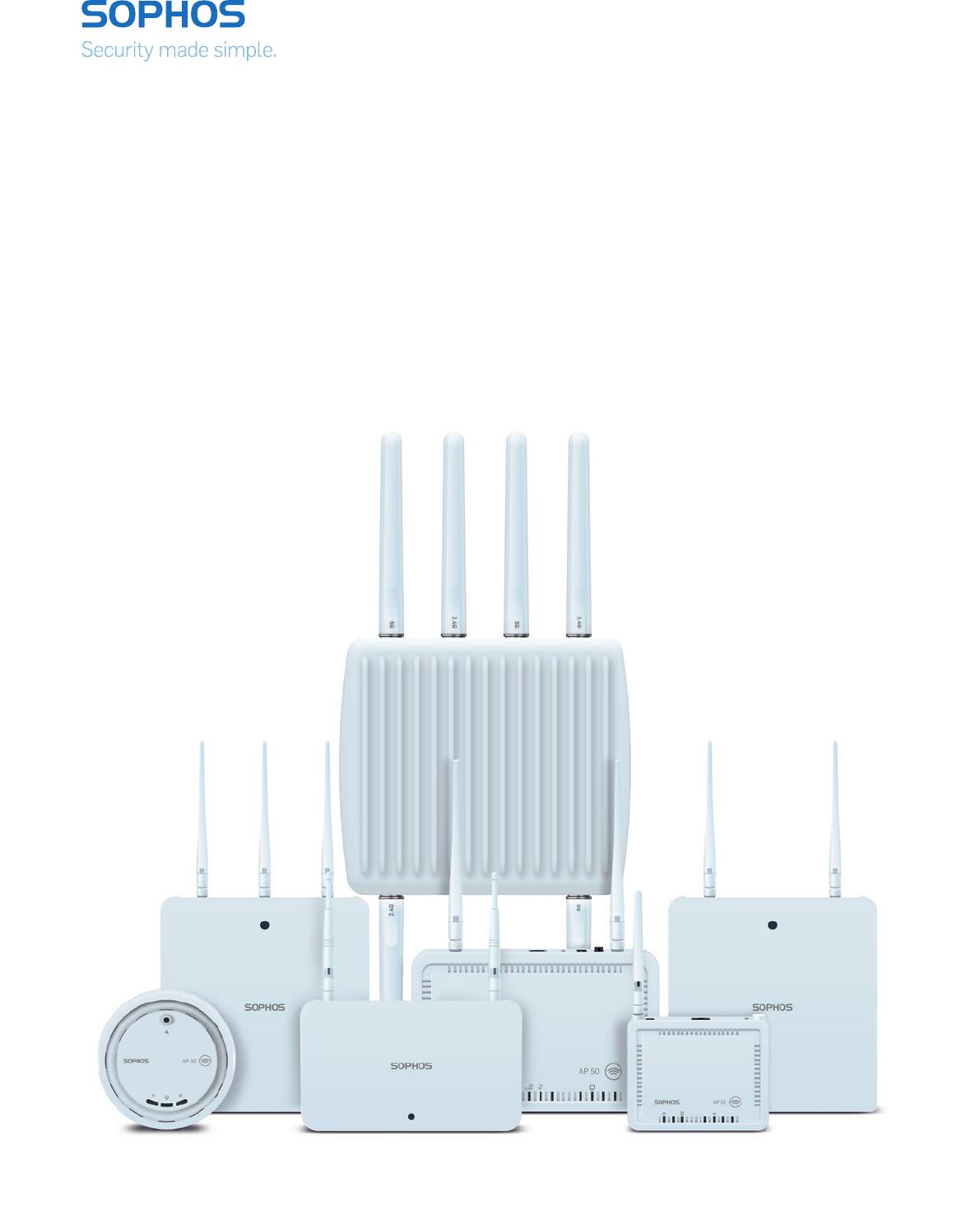 Sophos AP55C Sophos wireless Access Point AP 55C User Manual