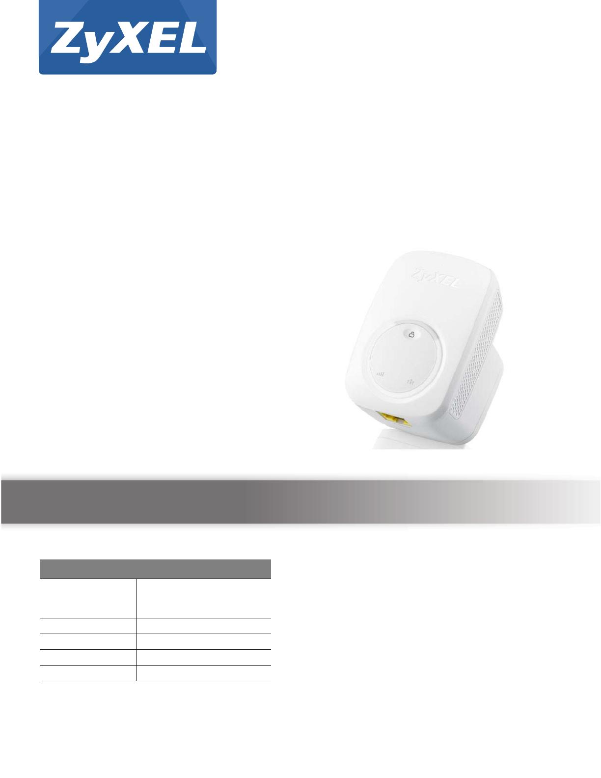 ZyXEL Communications WRE2206 Wireless N300 Range Extender