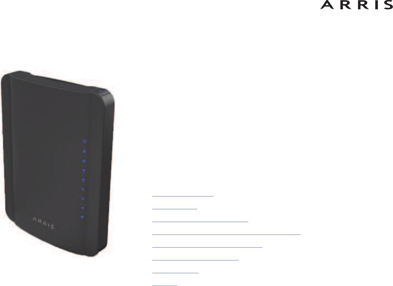 arris tg1672 touchstone telephony gateway user manual touchstone ... modem tg1672 wiring diagram  usermanual.wiki