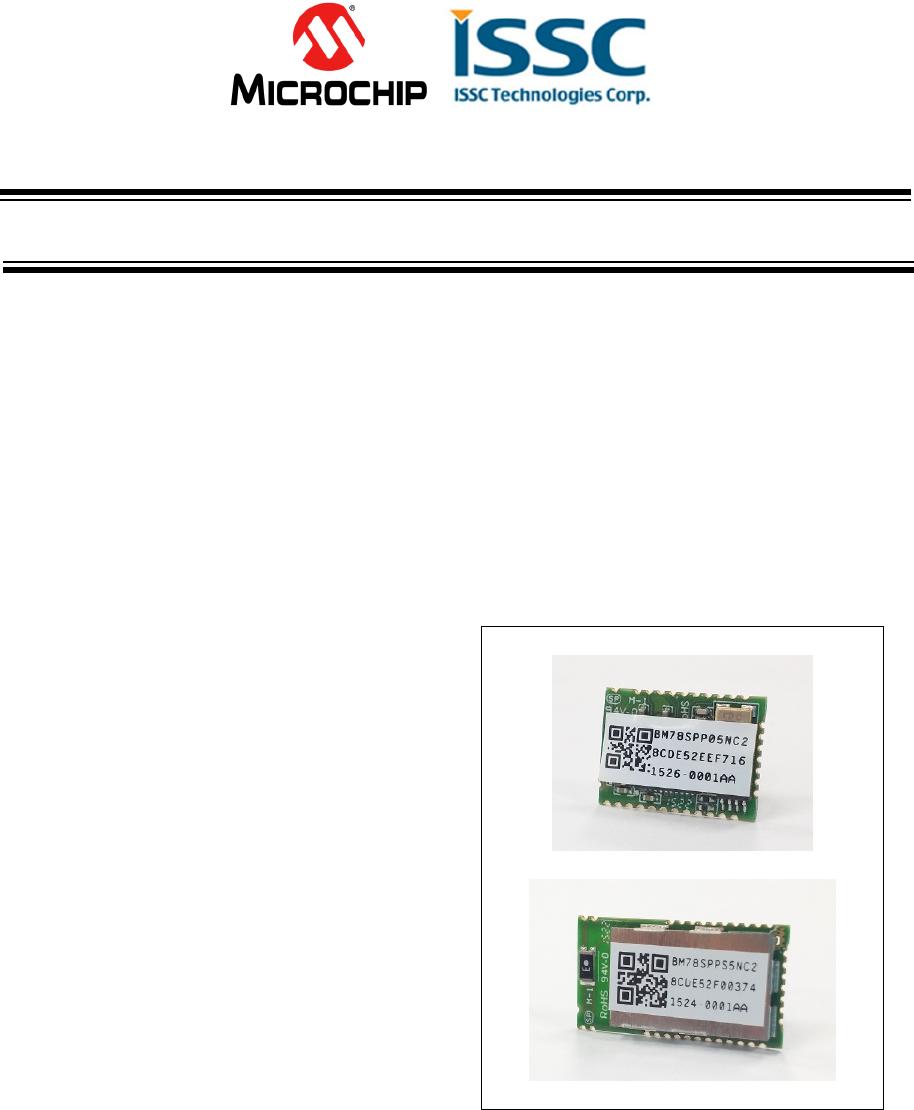 MICROCHIP TECHNOLOGY BM78ABCDEFGH Bluetooth Module User