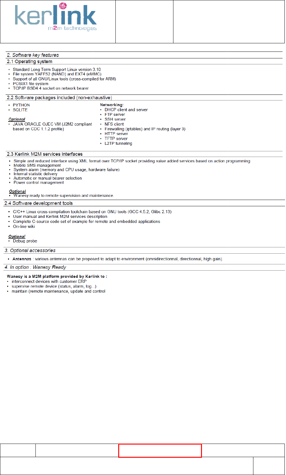 KERLINK KLK915LOI Tele transmission User Manual